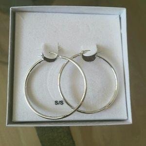 3 FOR 20 SALE Costume silver hoops earrings